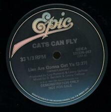 """Cats Can Fly(Promo 12"""" Vinyl)Lies Are Gonna Get Ya-Epic-12CDN 267-Canad-Ex/NM"""