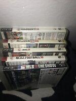 LOT Of 6 Mix Playstation PS3 Madden MLB SHOW NCAA NHL Games