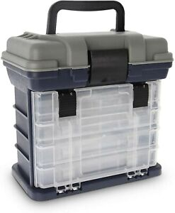 4 Tray Heavy Duty Removable Fishing Tackle Box for Terminal Tackle CROCH