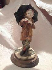 Giuseppe Armani Capodimonte Sculpture of Boy with Umbrella