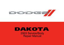Dodge Dakota 2003 Service Repair Workshop Factory Manual Disc