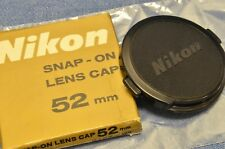 c. 1970's New in Box Nikon 52mm front lens cap f/24 28 35 45 50 58 85 105 135mm
