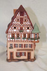 """Ceramic Historical Miniature Candle House 'MARIEN-APOTHEKE"""" Midene Art Studio"""