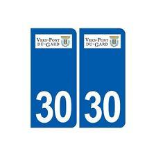 30 Vers-Pont-du-Gard logo ville autocollant plaque stickers droits