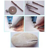 New 5pcs 22mm Emery Diamond Cutting Disc Blades Drill Bit+1 Mandrel Rotary Tools