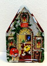 M&M Candy Christmas Village Series Tea House Inn Canister Metal Tin #15 2002