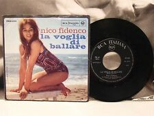 """NICO FIDENCO - LA VOGLIA DI BALLARE / CELESTINA 45 GIRI 7"""" VG+/VG+"""