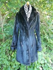 SALE!! Glossy, Ranch Mink,  Fitted,  3/4 Length , Size Small  Fur Coat