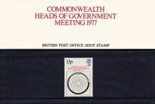 GB 1977 Commonwealth Heads of Government Meeting Presentation Pack VGC. Stamps
