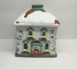 Pfaltzgraff - Winterberry - Christmas House Tea Light Holder