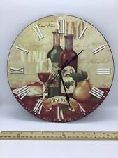"France theme Wall Clock 11"" Round Works Great May Time Quartz"