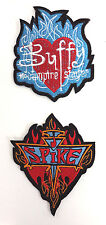 "Buffy the Vampire Slayer & Spike 3.5"" Flame Logo Patch Set of 2  (BVPA-02/3)"
