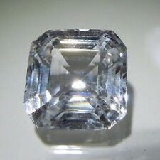 Asscher Square 8 x 8 mm 3.1 ct Natural White Sapphire Brilliant Solitaire Cut