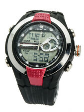 AQUASTAR:MENS' SILICON RUB BAND  DIGITAL / ANALOGE QUARTZ WATCH