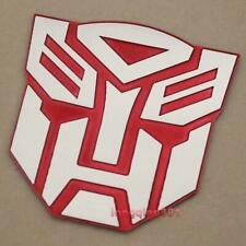 Aluminum 3D Red Car Badge Sticker Bike Emblem Decals For Transformers Autobot 18