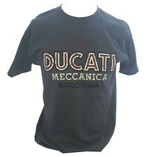 Ducati Meccanica Retro Motorcycle Logo Classic 80's Design T-shirt Tee Grey