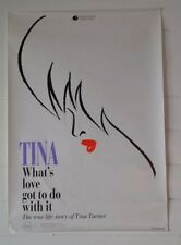 Vintage Original Music Poster Tina Turner Whats love got to do with it