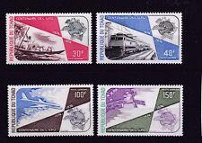 (A) Tschad 704-07** UPU 1974 FLUGZEUG EISENBAHN RAILWAY SATELLIT SATELLITE AVION