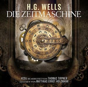 Hörbuch CD Die Zeitmaschine von H.G.Wells 4CDs mti Matthias Ernst Holzmann