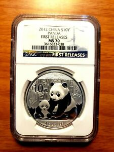 2012 China Silver Panda 1-oz Coin NGC MS70 Early Release