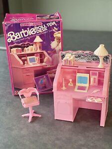 MatteL Barbie Sweet Roses Roll Top Desk Vintage 1988 ITALY Original Box & Instru