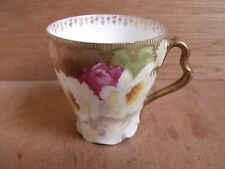 Rosenthal Iris Mark gilded Coffe peut Cup 1891-1906 Free UK POST