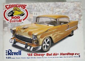 AMT 55 Chevy Bel Air Hardtop 2n1 1/25 Rare scale model kit Goodguys Rod & Custom