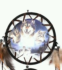 New Wolf Dream Catcher Feathers Indian 75cm b