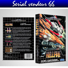 "BOX, CASE ""HELLFIRE"". MEGADRIVE. BOX + COVER PRINTED. NO GAME. MULTILINGUAL."