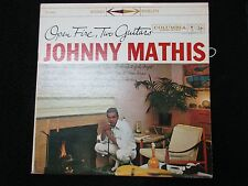 JOHNNY MATHIS OPEN FIRE TWO GUITARS STEREO LP CS 8056