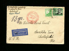 Zeppelin Sieger 423B 1936 5th North America Flight Germany Post to Missouri Usa