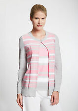 NWT MISOOK 3X SWEATER TWINSET TICKLED PINK CLAUDIA CARDIGAN + MATCH TOP 22W-24W