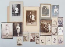 Collection of 19 Photograph of Children Various Sizes Old late 19th Century