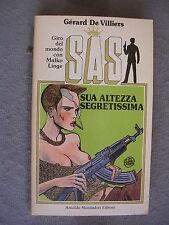 SAS #  23 - GERARD DE VILLIERS - SUE ALTEZZA SEGRETISSIMA*COPERTINA GUIDO CREPAX
