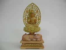 Buddhism Wood Sculpture (light-colored); MONJU BOSATSU (Manjusri)