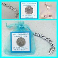 PERSONALISED LUCKY SIXPENCE Boy Birthday Gift 1st 16th 18th 21st 30th All Ages