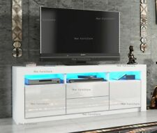 Modern 160cm TV Unit Cabinet Stand Sideboard Matt body and High Gloss Doors LED