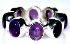 Amethyst Rings Full Eternity Sterling SILVER Ring Natural Gem 925 Sizes XS, S, M
