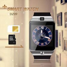 New 2017 Bluetooth DZ09 Smart Watch GSM SIM Camera For Samsung IOS iPhone Silver
