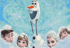 La película Frozen de Disney puntada cruzada contada Kit, TV/cine personajes de dibujos animados