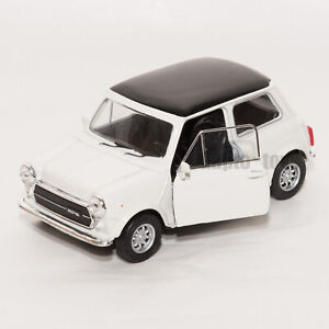 Mini Cooper 1300 White, Welly scale 1:34-39, model toy car gift
