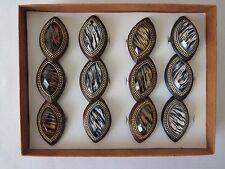 Lot of 12 (1 Dozen) Acrylic Marquise Animal Printed Eye Shaped Fashion Rings.
