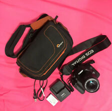 Canon EOS 550d with Len Kit 18-55, Battery, Charger and Camera Bag