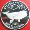 2001 KOREA 5 WON .48oz SILVER PROOF GREENLAND BOWHEAD WHALE SEA WILDLIFE RARE!!!
