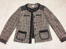 Coldwater Creek Womens Size 10 Tweed Black Frye Blazer