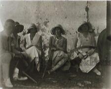 SYRIE SYRIA En attendant le cortège Plaque de verre stereo Vintage ca 1928