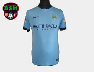 MANCHESTER CITY HOME 2014/15 #14 CHAMPIONS YXL /170 NIKE FOOTBALL SHIRT Jersey