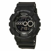 Casio GD100-1B Men's G-Shock World Timer Black Resin Digital Dial Dive Watch