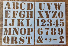 Numbers + letters Alphabet painting stencil 50mm characters Upper case large