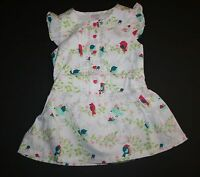 New Gymboree White Floral Lovebirds Print Dress 18-24m NWT Birds & Dinos Line
